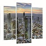 Bilderwelten Cuadro en lienzo 3 partes - Mainhattan - Tríptico De Galería,...