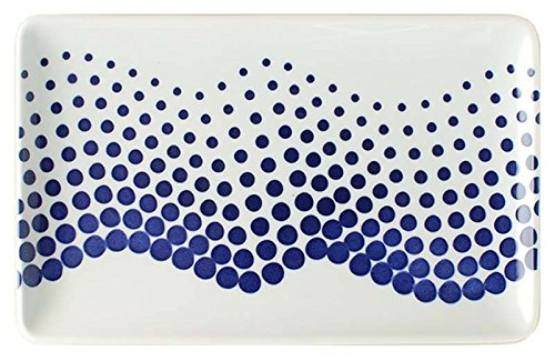 スカンジナビア 大皿 長方形 オーロラ アズール 25×15.5cm ms-lsq-aucb