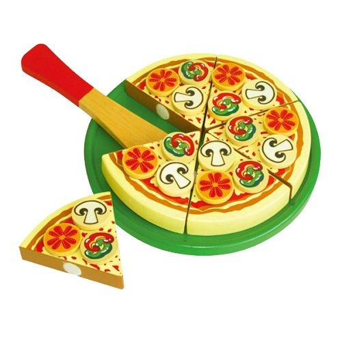 Viga Toys - 58500 - Jeu D'imitation - Cuisine - Pizza À Découper - Végétarienne