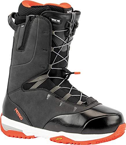 Nitro Snowboards Venture Pro TLS '20 All Mountain Freeride Freestyle Bottes de Snowboard pour Homme Noir/Rouge 29.0
