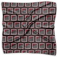 スカーフ ネッカチーフ 花札フサフサ 60x60 cm 正方形 薄い ハンカチ シュシュ 髪飾り 海辺 旅行 通勤 オフィス
