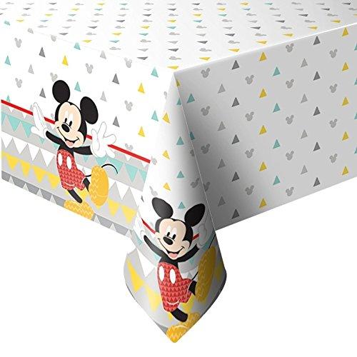 Procos- Mantel plástico 120 x 180 cm Mickey Mouse Awesome, Multicolor, 5PR89004