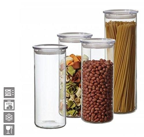 Bohemia Vorratsdose Glas mit Kunststoffdeckel 1,8l