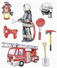 TOP ANGEBOT* WF32 Wandtattoo Feuerwehraufkleber freiwillige Feuerwehr Aufkleber