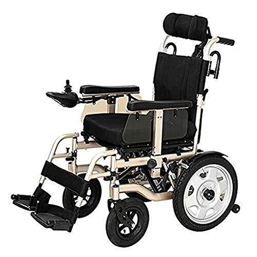 Silla de Ruedas eléctrica, Silla de ruedas eléctrica for trabajo pesado con el apoyo for la cabeza plegable y portátil Powerchair, Cinturón de seguridad Energía Eléctrica o la manipulación manual, aut