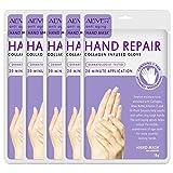 Hand Mask, Hand Peel Mask 5 Pack, Moisturizing Gloves, Hand Treatment Mask, Moisture Enhancing Gloves for Dry Hands, Moisturizes Rough Skin for Women or Men (Lavender Hand Mask)