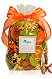Manu Home Sparkling Clementine Potpourri Bag-12 oz Scented Botanicals ~ Fresh Citrus Scent Vial Refresher Oil Spray~ Made with All Plant Materials ~ Made in USA