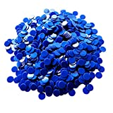 Yuanhe 1000 Pieces 3/4 inch Solid Opaque Bingo Counting Chips-Blue