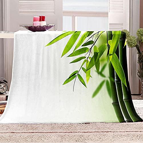 Ejiawj Mantas para Sofa Baratas Bambú Verde 120x200 cm 3D Fácil De...
