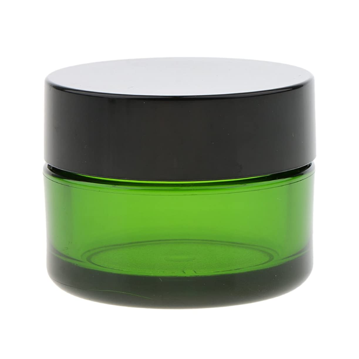 掃く抗生物質顕現Baosity クリーム コスメ 化粧品 ジャー 詰替え ボトル メイクアップ 旅行小物 便利 小分け容器 全3色 - 緑