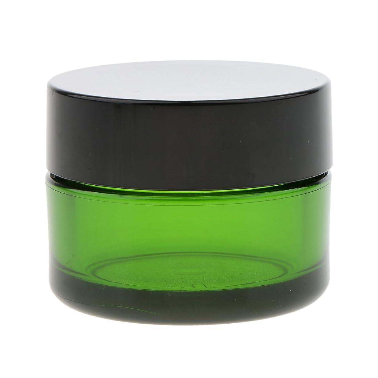 炎上シアー真っ逆さまBaosity クリーム コスメ 化粧品 ジャー 詰替え ボトル メイクアップ 旅行小物 便利 小分け容器 全3色 - 緑