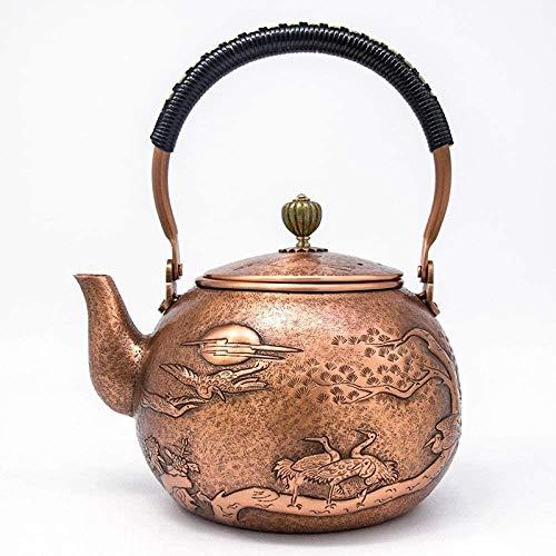 Copper Pot, Copper Pot Purple Hand-in reliëf, dikke koperen fluitketel Inspanning Duurzame / 1300ml Theepot (Kleur: zoals afgebeeld, Maat: 1300ml), Grootte: 1300 ml, Kleur: Zoals te zien
