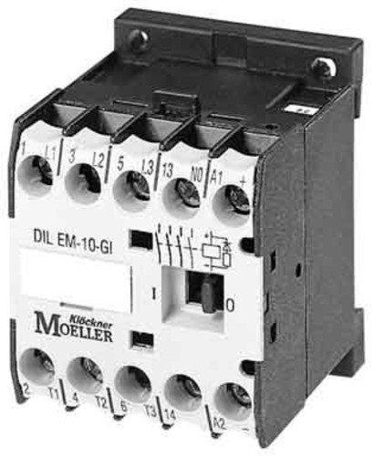 Eaton DILEM4(400V50HZ,440V60HZ) Contactor de Potencia, 4 Polos, 4 kW/400 V/AC3, 400 V 50 Hz, 440 V 60 Hz