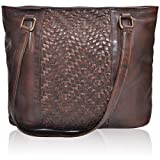 Sling Bags for Women Genuine-Leather - Vintage Multi Pocket Crossbody Purse (Butternut Brown Wash)