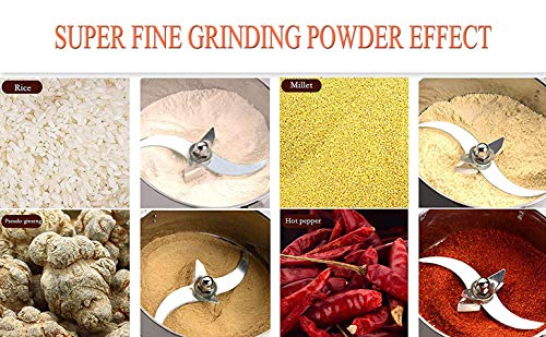 CGOLDENWALL 300g Open-Cover-Stop Protection 1500W Electric Grain Grinder 28000RPM Superfine Mill for Herb/Spice/Nut…