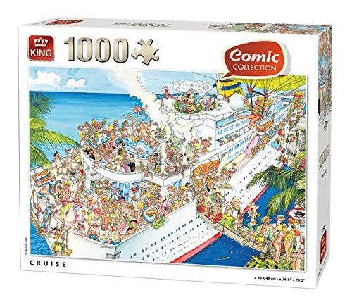 King 55888 - Puzzle (1000 Piezas, 68 x 49 cm), diseño de cómic