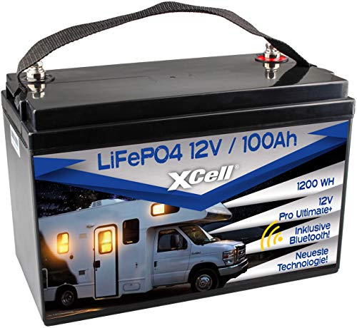 XCell LiFePO4 Akku 12V (12,8V) 100Ah inkl. Bluetooth Pro Ultimate Batterie