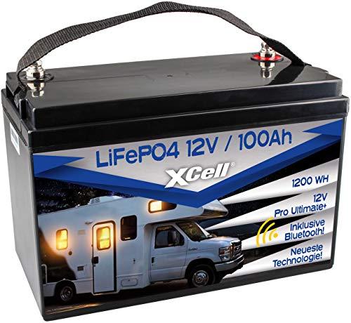 XCell LiFePO4 Akku 12V (12,8V) 100Ah inkl. Bluetooth Pro Ultimate Batterie