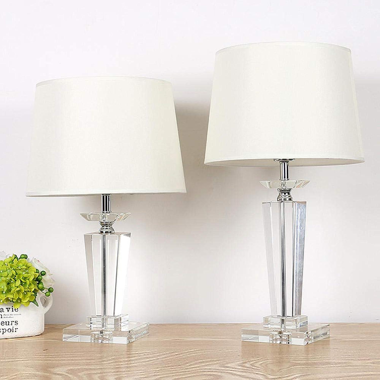 HSXHSMY Tischlampe im europischen Stil Tischlampe im europischen Stil Kristall Tischlampe einfaches warmes Licht dimmbar