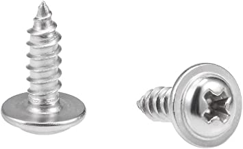2.2mm A2 Stainless Steel Phillips Flat Head Self Tapping Wood Screws DIN7982 1000pcs//lot M2 M2.2 x 8mm