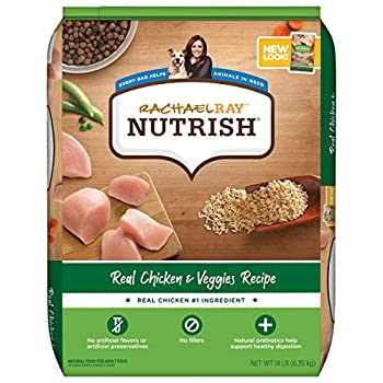 Rachael Ray Nutrish Premium Natural Dry Dog Food Real Chicken & Veggies Recipe 14 Pounds  Packaging May Vary