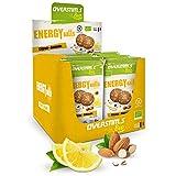 OVERSTIM.s -Energy Ball (12 Bolsas) - Limón-Almendras- Tentempié Energético Para El Deporte - Bio - Vegano - Sin Gluten 48 g