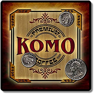 Komo Premium Coffee Personalized Neoprene Drink Coasters ZuWEE Original