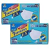 (PM2.5対応) フィッティ 7DAYS マスク EX 120枚入 ふつうサイズ ホワイト (60枚入×2) 玉川衛材