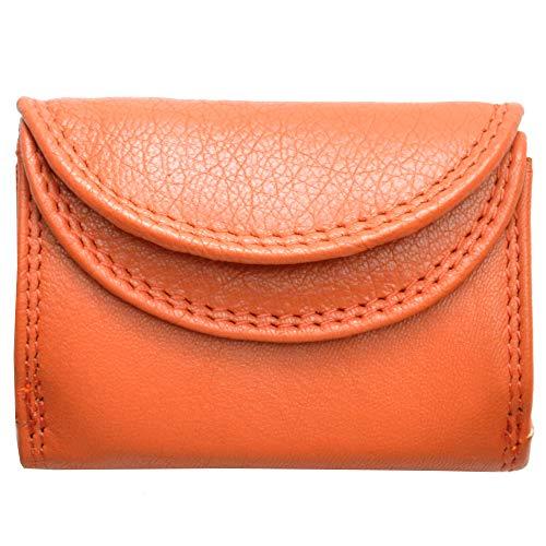 flevado Kleine handliche Party Disco Geldbörse in Mehreren Farben Lifestyle mit RFID Schutz(orange)