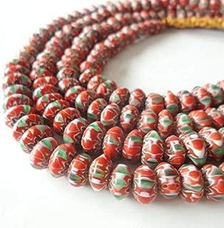 Calvas TSB0183 Nepal Handmade Sarfon Lampwork Colorful Disk Beads Strand - (Item Diameter: 60cm 23.5in)