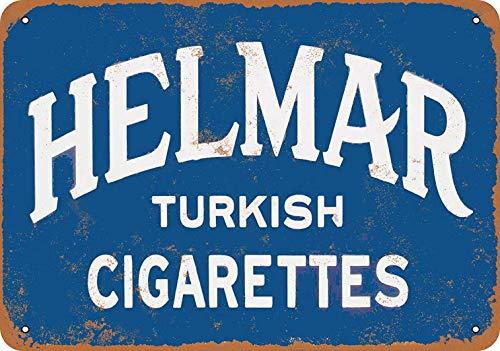 Helmar - Placa de metal para pared, diseño de cigarrillos turcos, para bar, café, restaurante, dormitorio, garaje