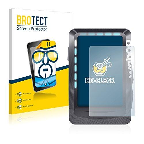 2x BROTECT Protector Pantalla Wahoo Elemnt GPS Película Protectora – Transparente, Anti-Huellas
