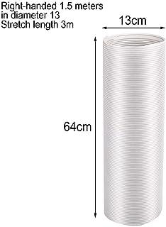 Juego de tubos de escape especiales para aire acondicionado con accesorios de anillo a presión - Adaptador de tubo de adaptador de ventana móvil para tubo de calor telescópico Pp Manguera de cable