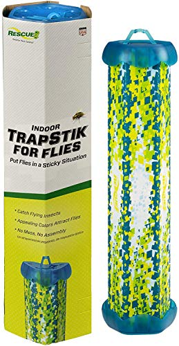 RESCUE! TrapStik for Flies – Indoor Hanging Fly...