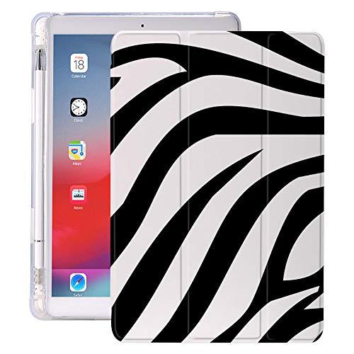 Animal patrón Vaca para Aire 4 Caso iPad sosee Lindo lápiz 10.2 8º 2020 7mo 12.9 Pro 11 2018 Mini 5 Funda Silicona 10.5 Air 2 (Color : Zebra, Size : iPad Air 4)