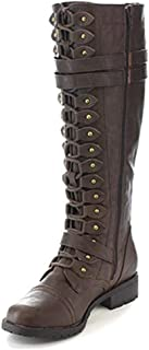 Sexy Lace Up Knee High Boots Women Fashion Boots Flats Shoes Woman Square Heels