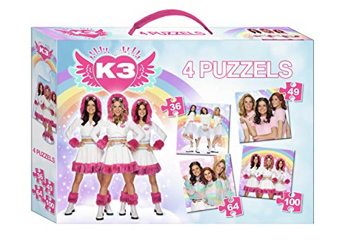 K3 : puzzel 4-in-1 - Dromen - 36, 49, 64 & 100 st.