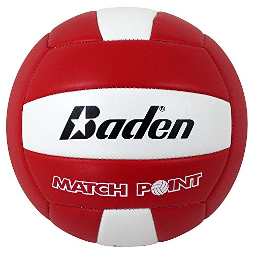 Baden MatchPoint Official Size 5 Cushioned Volleyball, Red/White