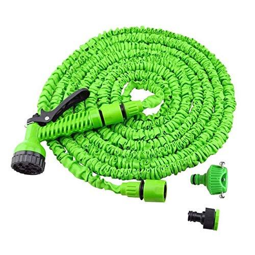 XiaoOu 25FT-150FT Gartenschlauch Erweiterbarer magischer Flexibler Wasserschlauch Schlauch Kunststoffschläuche Rohr mit Spritzpistole zum Gießen von Autowaschspray, grün, 25ft