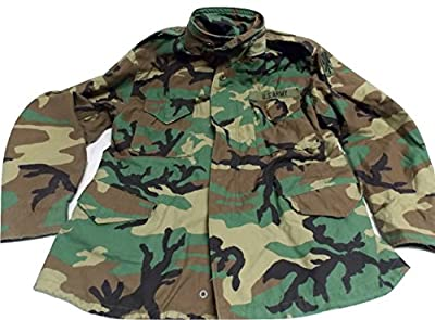 Original US Army Issue Woodland Coat BDU Camouflage Field M-65 Jacket Large/Regular