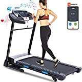 FUNMILY Folding Treadmill, 3.25HP Automatic Incline Treadmill, Walking Running Jogging Running Machine for Home Gym Cardio Fitness