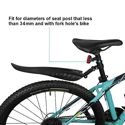 QKURT Bike Mudguard Set, MTB Mudgurad Bike Fenders Front and Rear Mudgurad Fit for 20,22,24,26 Inch Road Bikes