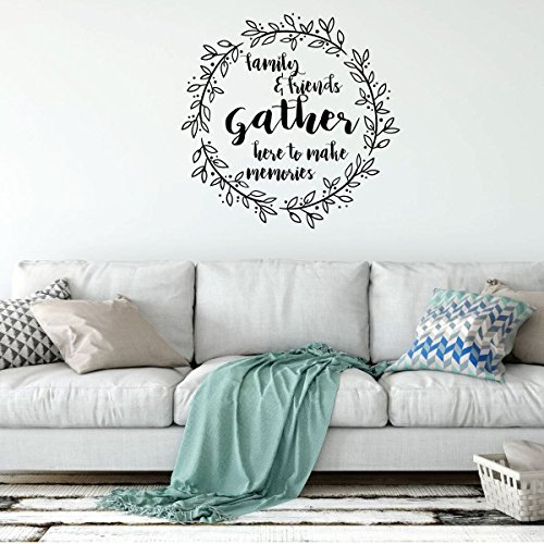 Family Wall Decal - Families & Friends Gather - Vinyl Art for Living Room, Bedroom or Home Decor