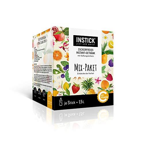 INSTICK | Zuckerfreies Instantgetränk - Mix-Paket mit 46 Sticks | 46 x 1,5 Liter