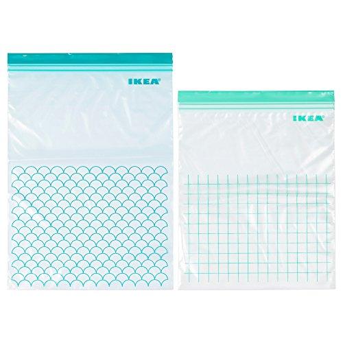 IKEA ISTAD Kunststoff-TascheN, Türkis-Helltürkis, 30 Stück