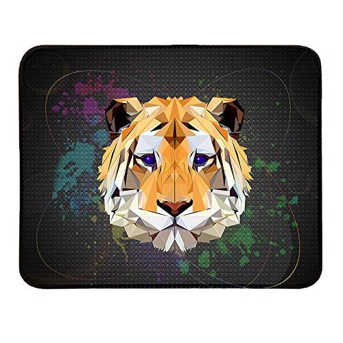 AOTEHU Tappetino per mouse con base in gomma antiscivolo con bordi cuciti, per gaming, con velocità e precisione, 25 x 20 cm, per ufficio con motivo tigre, per PC, computer e laptop