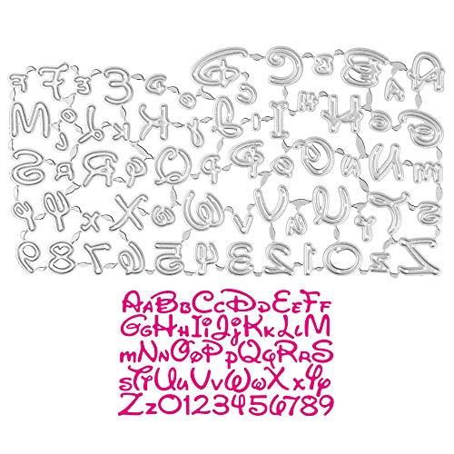 UFLF 1 Juego de Troqueles Letras y Números Troqueles Alfabeto Scrapbooking Metal Plantillas Troquelar Estarcir Cutting Dies para Manualidad Decoración Álbum Recorte Tarjeta Papel DIY