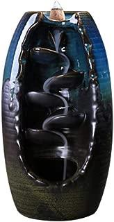 TOSSPER Reflujo Quemador de Incienso de aromaterapia de cerámica Horno de Lotus aromático Olor del Ministerio del Interior Río Montaña de Incienso Titular