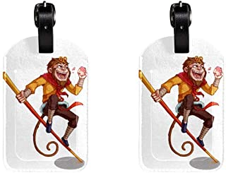 MonkeyLeather Luggage Tags Suitcase Labels Bag Travel ID Bag Tag, 1 Pcs