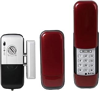 ロックマンジャパン デジタルドアロック 全3色 室内機縦型 非常キー搭載 取付動画あり 暗証番号式 レッド ID-202TAB-Re